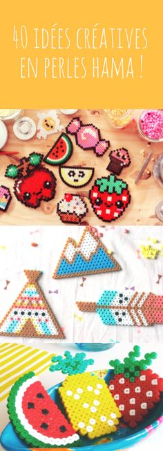 40 idées créatives, DIY et tutoriels en perles Hama ou perles à repasser !