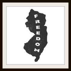 "New Jersey Freedom 12"" by 12"" Print"