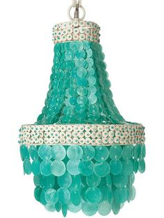 9 best teen girls chandeliers cheap cool funky images on fabulous turquoise capiz chandelier light fixture unique natural and a teen friendly hue aloadofball Choice Image