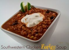 The Farm Girl Recipes: Southwestern Chicken Barley Soup
