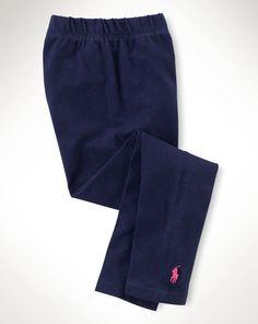 Stretch Legging - Girls 2-6X Pants, Leggings & Shorts - RalphLauren.com