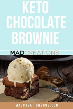 Seriously the best keto chocolate brownies. Only 2g net carbs per slice (a big one too), so fudgy and delicious! Low Sugar Desserts, Low Carb Sweets, Keto Desserts, Dessert Recipes, Chocolate Brownies, Keto Brownies, Diabetic Recipes, Low Carb Recipes, Brownie Muffin Recipe
