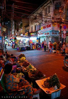 Night Market in Ho Chi Minh City, Vietnam