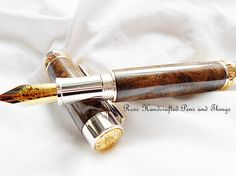 Handcrafted Fountain Pen Wooden Gift For by RossHandcraftedPens. www.etsy.com/listing/235269425