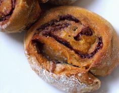 nutella cinnamon pumpkinrolls