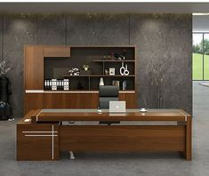 Source Wood office furniture office table design models office furniture on m.al… – Luxury Office Designs Executive Office Furniture, Modern Office Desk, Office Furniture Design, Office Table, Office Interior Design, Office Interiors, Office Desks, Furniture Ideas, Luxury Furniture