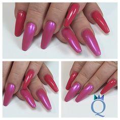 Meine letzten Nägel nach 2 Wochen / my last nails after 2 weeks #longnails #nails #gelnails #coffinnails #ballerina #shape #pink #langenägel #nägel #gelnägel #ballerina #form  #pink #nailqueen_janine #nagelstudio #möhlin
