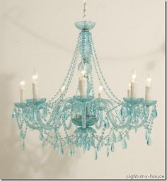 gorgeous turquoise chandelier for dining room?