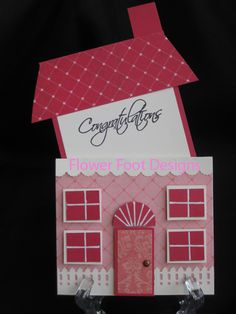 Cibele Glazer: Flower Foot Designs: House Card Open - 7/29/09. (Pin#1: Houses... Pin+: Folds/ Closures...).