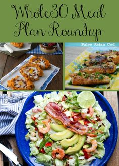 30-day Whole30 Meal Plan with breakfasts, lunches and dinners!