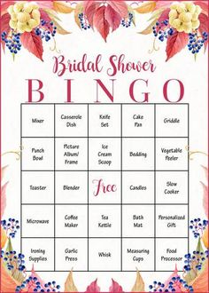 bridal shower gift bingo cards printable download bridal gift opening game falling in love br1006