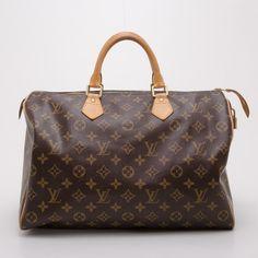 Louis Vuitton Monogram Speedy 35 via Polyvore