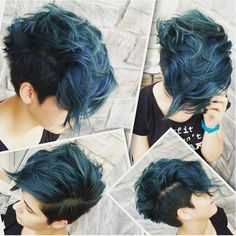 Cool short hair with color. #shorthair #colorhair #aliqueenmall #aliqueenhair Find more trendy haircuts here:http://goo.gl/ycOvLz