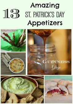 13 Amazing St. Patrick's Day Appetizers ~ Trying to decide what kind of food to prepare for a St. Patrick's Day party? These appetizers are all easy and can be served all year long! ~ from Virtually Yours