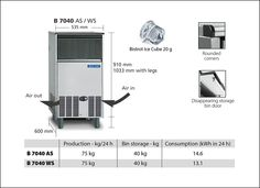 Bar Line - Self contained ice makers - buil-in versions