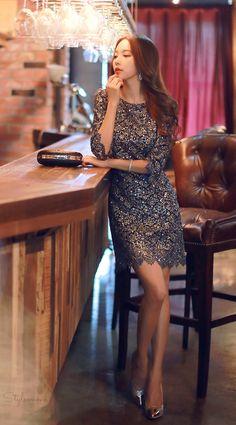 Gold Spangle Laced Dress $136.75