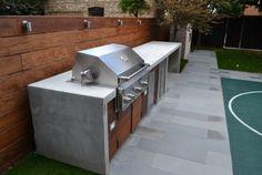 barbecue fixe encastré-plans-travail-béton