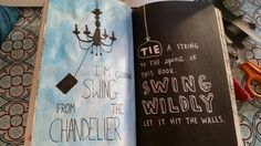 My wreck this journal - tie a string, swing wildly