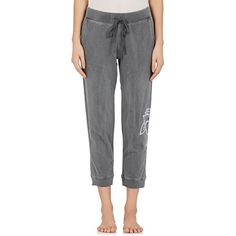 Electric & Rose Women's Rose-Print Cotton Terry Sweatpants ($130) ❤ liked on Polyvore featuring activewear, activewear pants, grey sweat pants, terry cloth sweatpants, gray sweatpants, sweat pants and cotton activewear