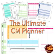 Several different FREE printable homeschool planners including attendance calendar, charlotte Mason planner, 1 week student planner and 6 week subject planner.  You can edit and print!