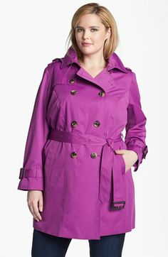 London Fog Heritage Trench with Detachable Liner (Plus) | Nordstrom  $130.80 (40% off)  Terrific color@