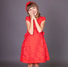ROCHIE FETE CU MARGARETE, ROSU CORAI Short Sleeve Dresses, Dresses With Sleeves, Special Occasion, Girls Dresses, Fashion, Tulle, Dresses Of Girls, Moda, Sleeve Dresses