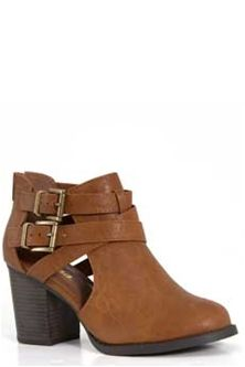 Soda+Shoes+Open+Side+Buckle+Ankle+Booties+in+Tan+SCRIBE-S-TAN