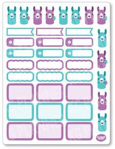 APR Llama of the Month Planner Stickers