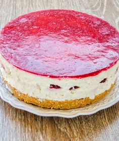 Cheesecake cu zmeura si rodii - Din secretele bucătăriei chinezești Cheesecakes, Food And Drink, Ice Cream, Desserts, Pies, Sweets, No Churn Ice Cream, Tailgate Desserts, Deserts