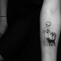 alien, tattoo, and alientattoo image