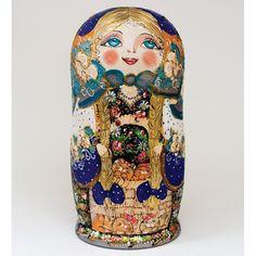 """""""Anastasia"""" Set of 20 Miniature Nesting Dolls nesting doll, matreshka, Russian matreshka, babushka, gift ideas, souvrussia"""