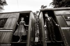 vintage train engagement shoot #GOWSRedesign