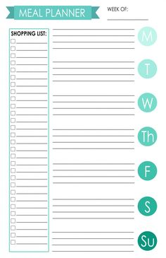 Weekly Meal Plan For Happy Planer  Free Planner Inserts Covers