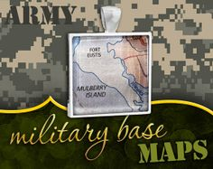 U.S. Army / Air Force Pendant Joint Base Langley / by NaturalCharm, $25.00