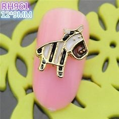 QINF 10PCS RH961 Special Design Horse Luxury Rhinestone 3D Alloy nail art DIY Nail beauty Nail Decoration Nail Salon *** Be sure to check out this awesome product.