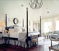 Master Suite - Thompson Custom Homes Bed French Style Decor, French Bedroom Decor, Home Bedroom, Bedroom Ideas, Bedroom Retreat, Beautiful Bedrooms, Beautiful Interiors, Awesome Bedrooms, Beautiful Homes