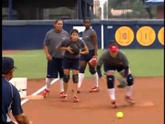 Mike Candrea Fielding Drills - I love how fast-paced this is
