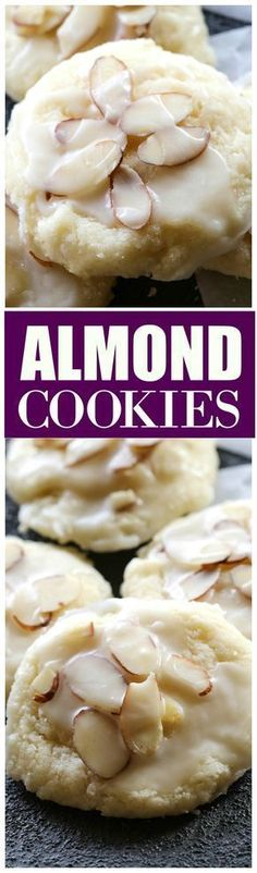 Cookies Almond Cookies - a family favorite we all love! the-girl-who-ate-Almond Cookies - a family favorite we all love! the-girl-who-ate- Cookies Receta, Yummy Cookies, Holiday Cookies, Baby Cookies, Heart Cookies, Valentine Cookies, Easter Cookies, Birthday Cookies, Sugar Cookies