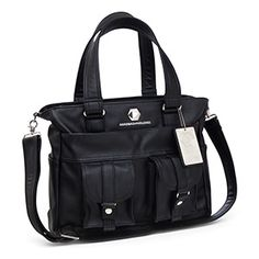 You'll be less harried, and you'll look totally professional with the Deluxe Handbag of Holding, now available in a sleek black faux leather. This bag has 15 unique places for you to put your things.