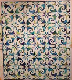 Sea Swept quilt, Cotton Patch Quilt Shop. Storm at sea with snail's trail…