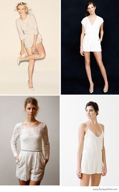 Chic Bridal Rompers