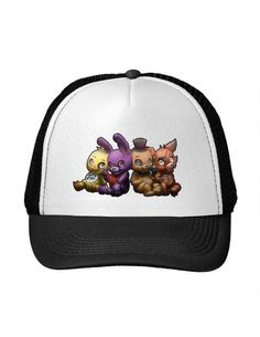 Noir Imprimé Five Nights At Freddy's Artwork Camionneur Chapeaux