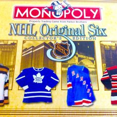 Rare Mint Monopoly NHL Original 6 Collector's Edition Board Game 2001 Sealed #ParkerBrothers