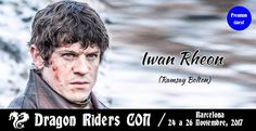 Hello everyone!  The first Game of Thrones convention in Spain will be next November.  The winter is coming to Barcelona together Sean Bean (#NedStark), Iwan Rheon and more!  Check it! Hope to see you there!  https://www.facebook.com/DragonRidersCON/photos/a.196374804199391.1073741828.182709098899295/240240696479468/?type=3 #KandZ