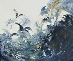 We are very proud to announce that The Art Wall at Kensington Place is now showing March Wave Breaking by the distinguished contemporary artist Maggi Hambling. Maggi Hambling, Weather Art, Seaside Art, A Level Art, Sea Art, Sea Birds, Caravaggio, Our Lady, Art Sketchbook