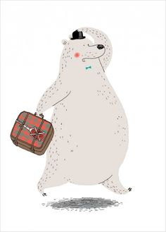Bear Illustration Poster for a Kids room by Dominique Le Bagousse Abstract Illustration, Cute Animal Illustration, Children's Book Illustration, Character Illustration, Illustration Vector, Art D'ours, Illustration Mignonne, Bear Art, Cute Bears