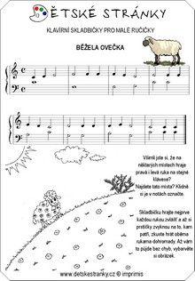 Běžela ovečka Sheet Music, Musicals, Music Sheets, Musical Theatre