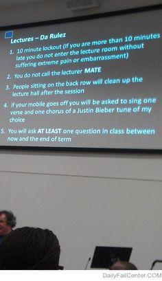 Lectures - Da Rulez