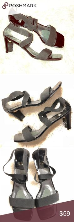 Stuart Weitzman Strappy Slingback Heels 057 9B Stuart Weitzman Strappy Slingback Heels Pumps Sandals 057 9B Black, leather sole, Made in Spain.  Leather toe area.  Previously loved, but lots of life left!  Simply stunning!  Perfect for the office or for a night on the town! Stuart Weitzman Shoes Heels