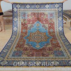 QUM SILK RUG persian carpet hand knotted 6x9ft shiraz sil... https://www.amazon.com/dp/B01MTN9ZRZ/ref=cm_sw_r_pi_dp_x_aO8kyb19GHHVB